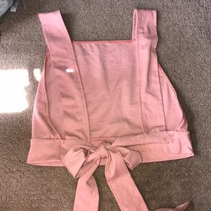 Truly Madly Deeply Baby Pink Crop Top